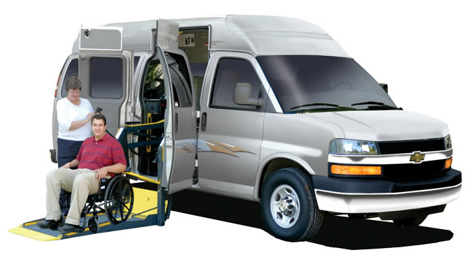 wheelchair lift for van intended adaptavan with wheelchair lift depoloyed the van is red commercial ada compliant wheelchair main mobility